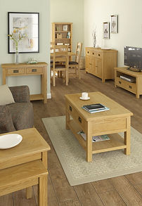 Oak Living Room Furniture | Oak TV stands | Oak nest of tables | Oak console tables | Oak Coffee Tables