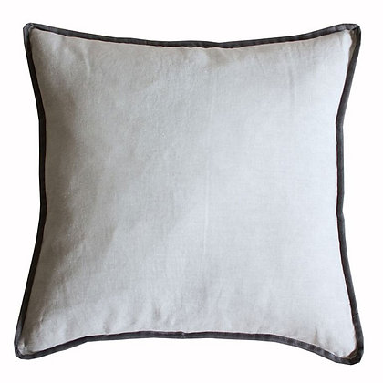 Grey Cushion with Charcoal Piping