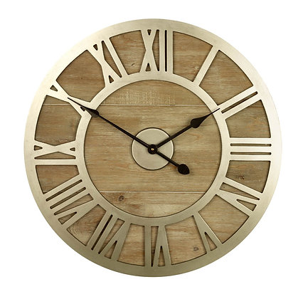 Gold Numeral Clock