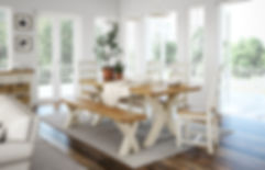 Cream painted furniture, painted dining table, dining set Bradford, ivory furniture Leeds