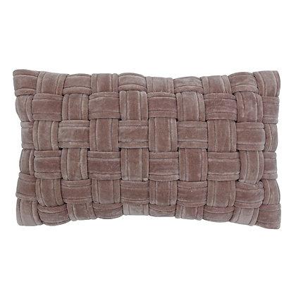 Antique Blush Pink Woven Cushion
