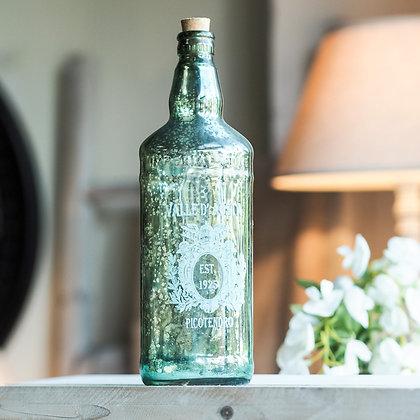 Vintage Shabby Chic Mercury Glass Bottle