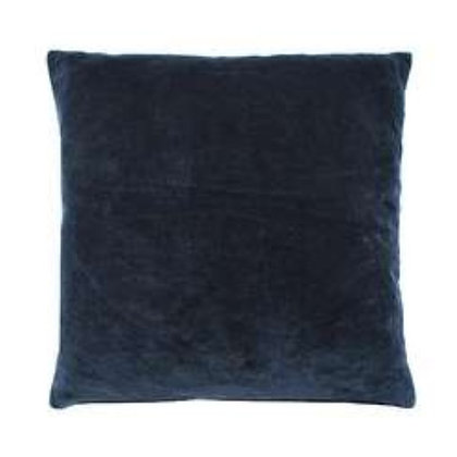 Luxe Velvet Cushion In Indigo Blue