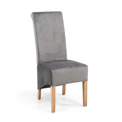 Kilnsey Grey Velvet Chair