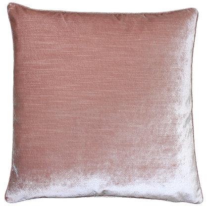 Boho Blush Pink Velvet Cushion