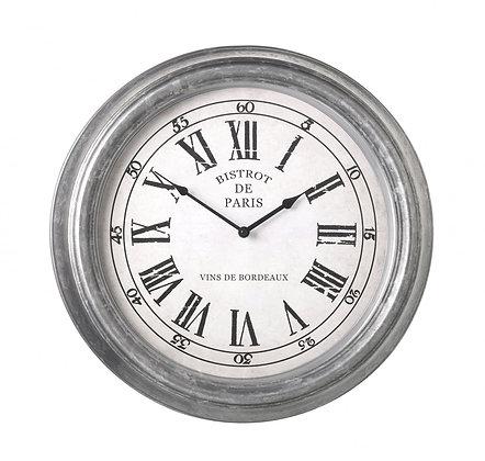 Large Grey Paris Clock