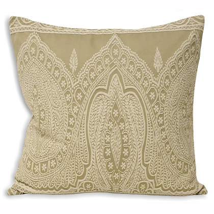 Paisley Print Linen Cushion