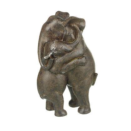 Hugging Elephants Ornament