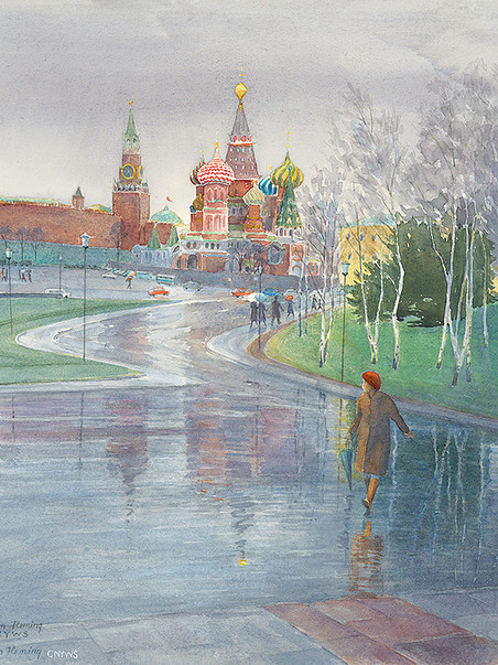Rainy Day in Moscow