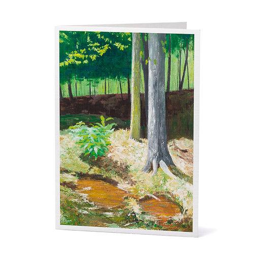 Summer Woods Art Greeting Card