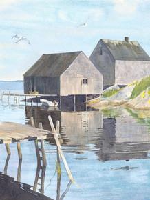 Fishing Huts, Nova Scotia
