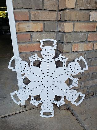 """30"""" Snowman Snowflake"""