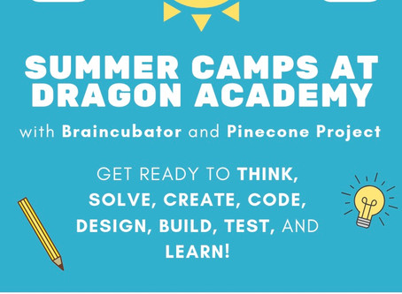 The Dragon Welcomes BRAINCUBATOR for Summer 2019 Techcamps!