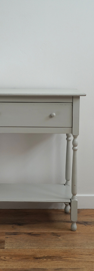 Grey painted side table.