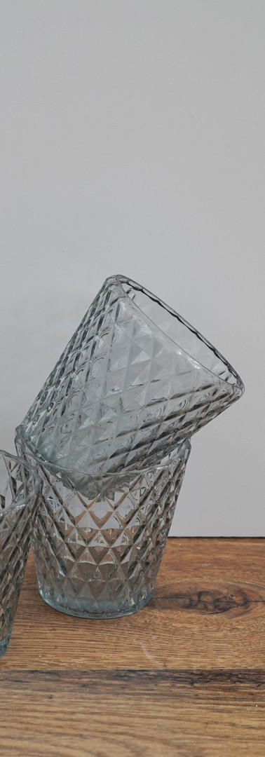 Large crystal tealight holders.
