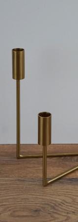 Gold V-Shaped Holder
