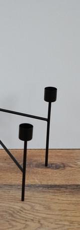 Contemporary Black Candelabra