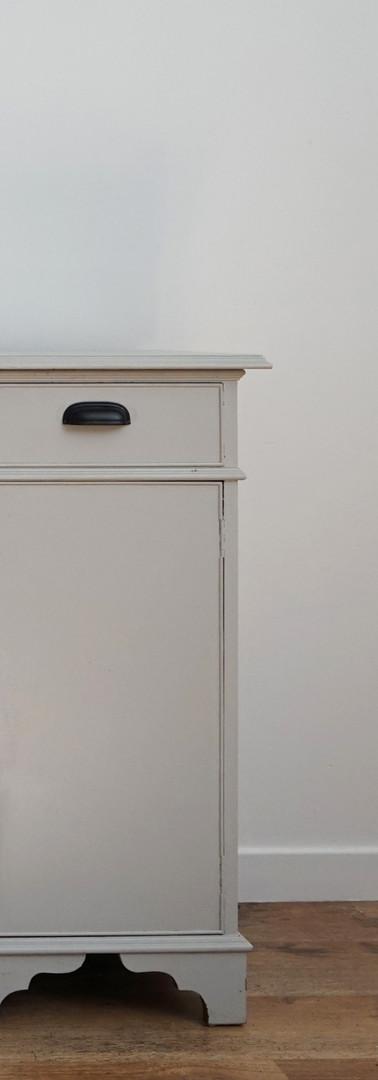 Grey painted dresser.