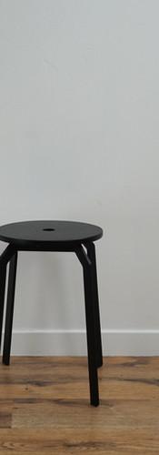 Contemporary Black Stool