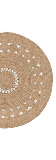 Circular Rattan Rug