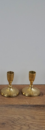 Gold Low Candle Holders.
