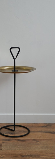 Black and Gold Tray Table