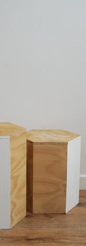 Hexagon coffee tables sml / lg