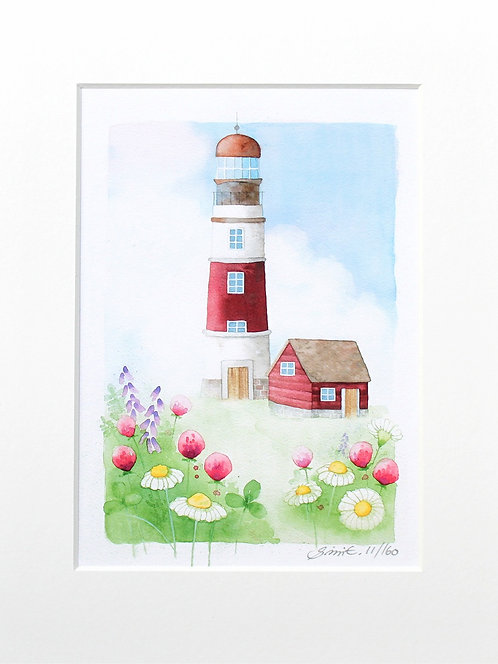 Lighthouse at July / Limited Edition Print 18x24cm