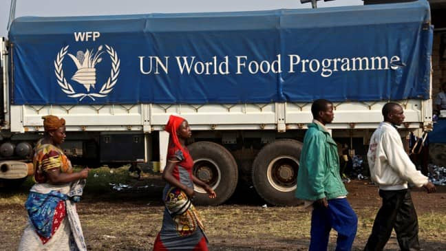 WFP in Africa providing assistance. Image from REUTERS