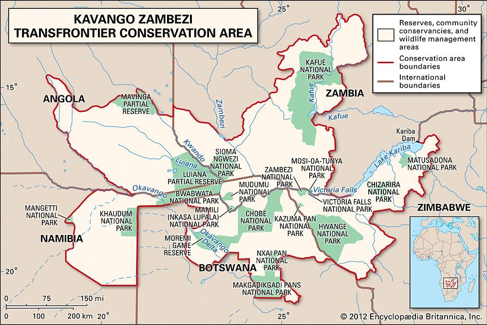 KAZA (Kavango Zambezi Transfrontier Conservation Area)