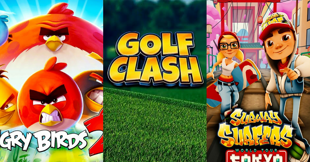 Angry Birds 2, Gold Clash and Subway Surfer