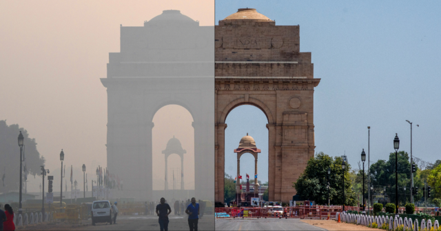 New Delhi: Before and after Lockdown