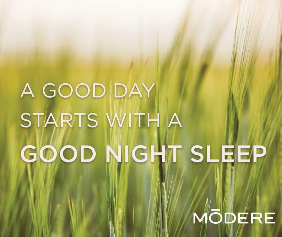 a good day starts with a good nights sleep