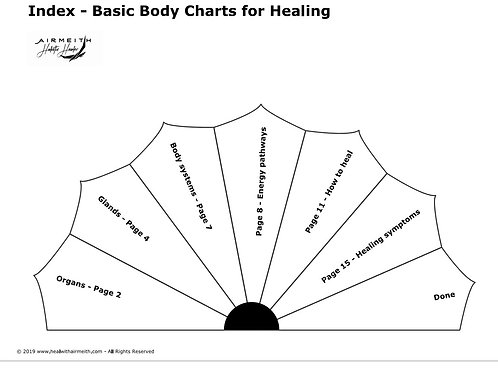 Basic Body Healing Pendulum Dowsing Booklet