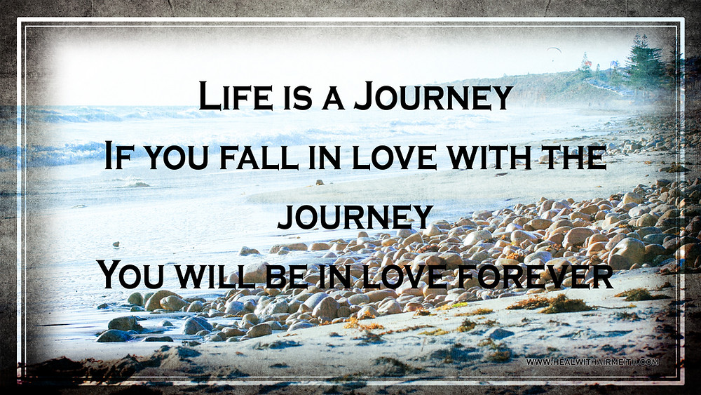Life is a journey. If you fall in love with the journey. You will be in love forever
