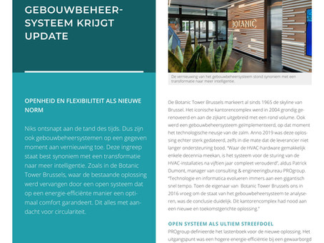 Gebouwbeheersysteem Botanic Building krijgt update - Smart Buildings in Use - Project C-Tech