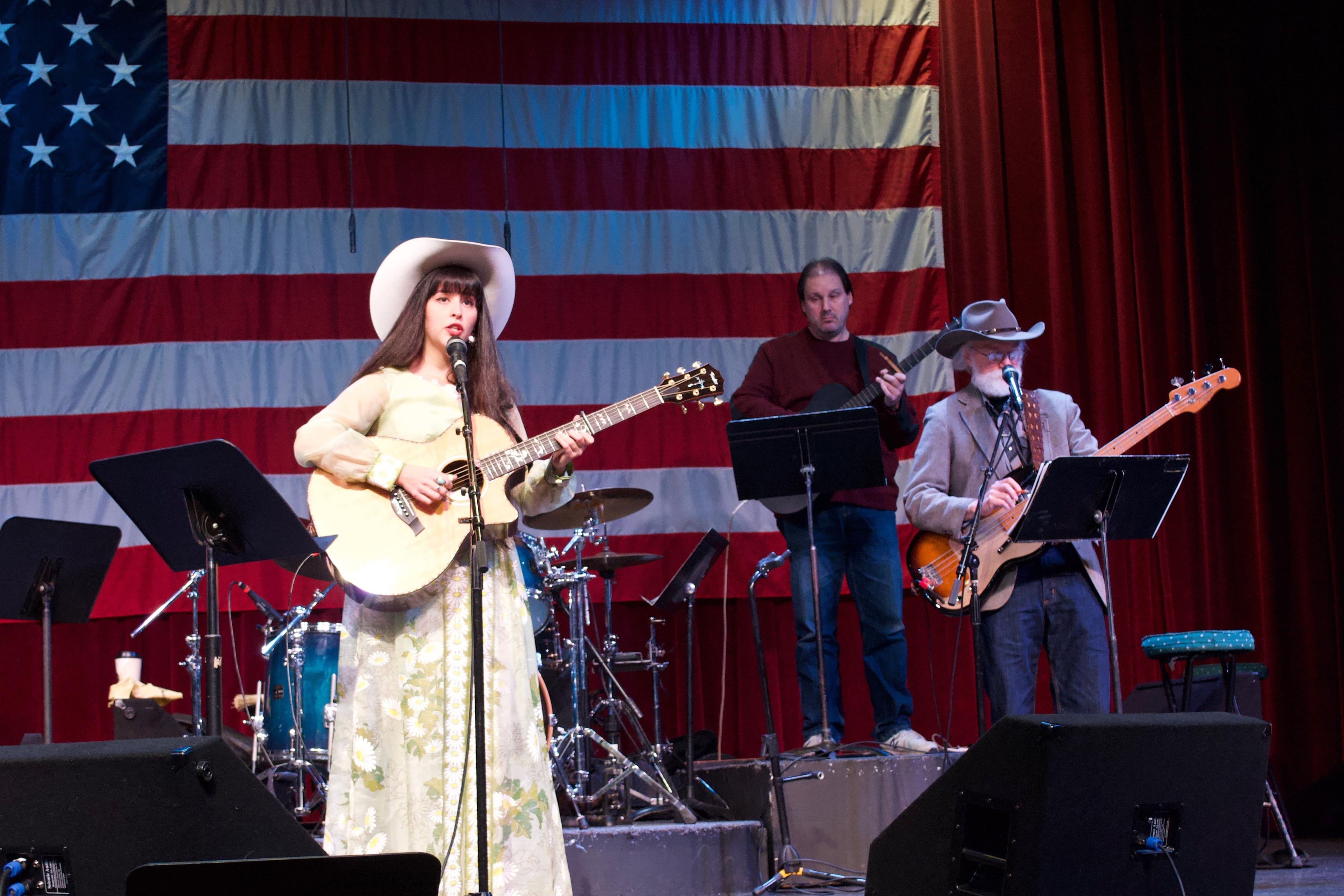 Nina onstage at Cowboy Church