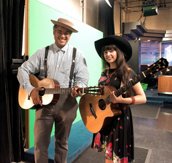 Dom Flemons and Nina Ricci at WBIR Knoxv