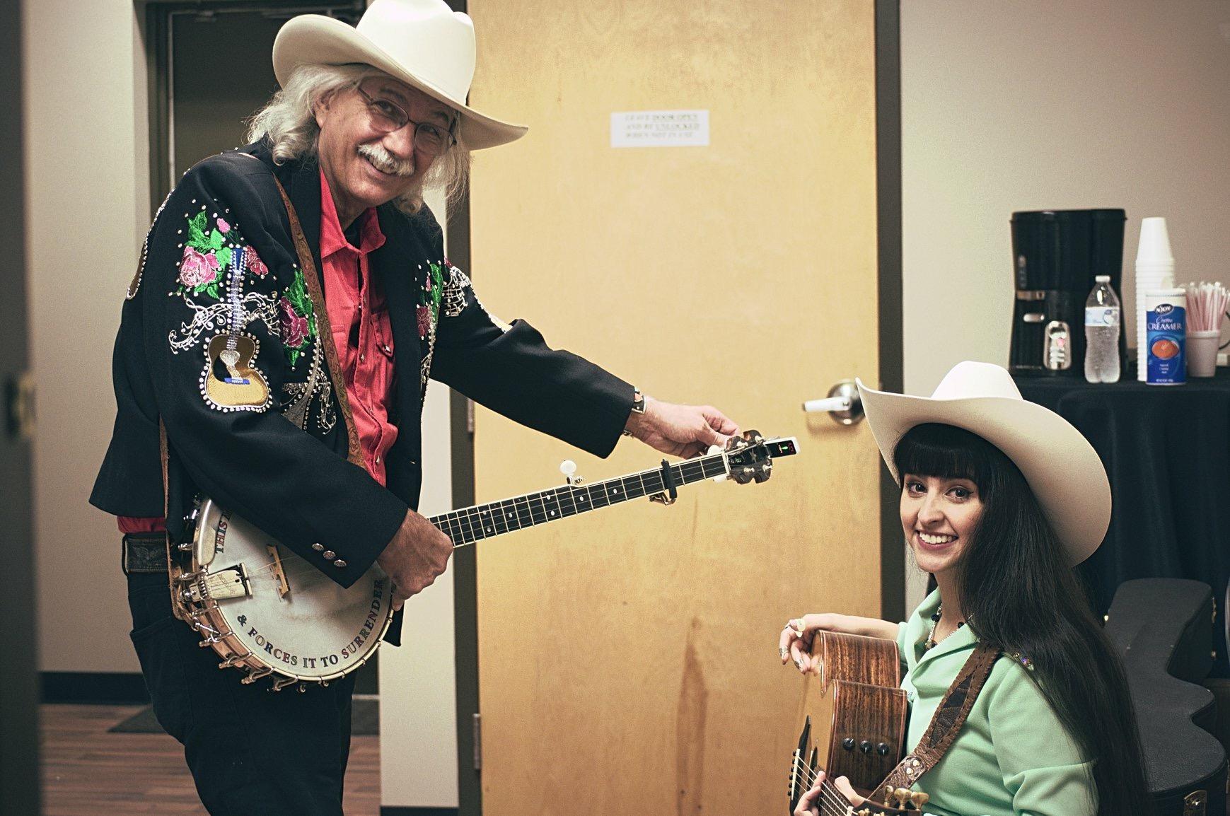 Rik Palieri and Nina Ricci backstage