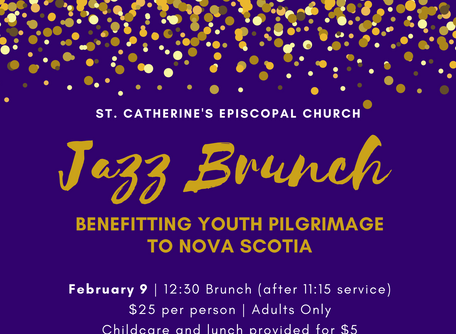 Save the Date - Jazz Brunch for Youth Pilgrimage Fundraiser