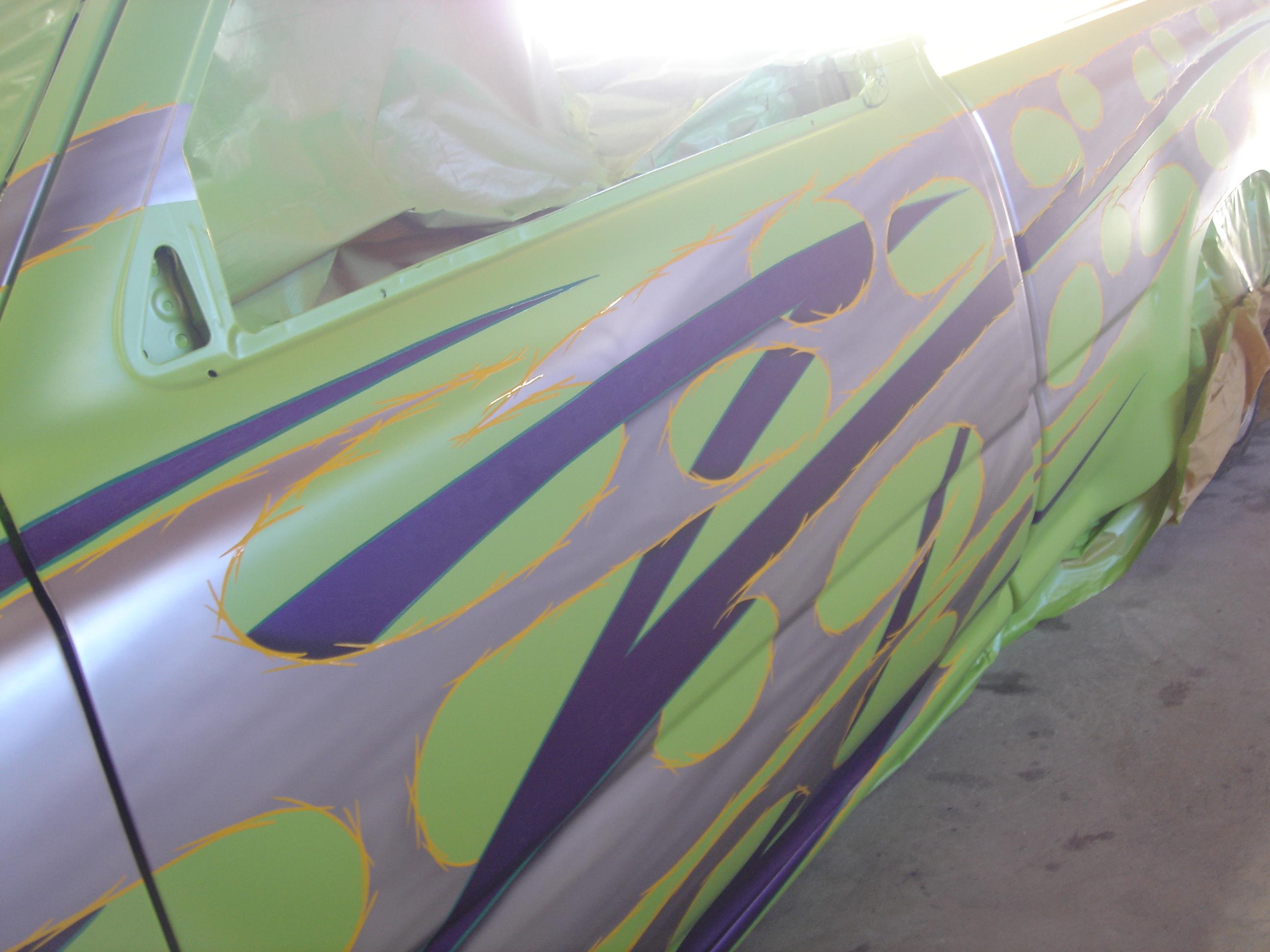 Custom paint asymmetrical