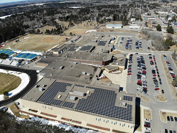 Pequot Lakes High School Solar MN