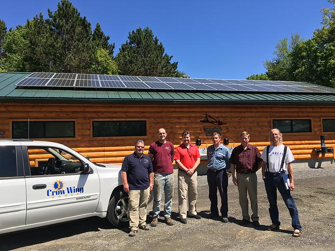 2017 - Camp Olsen solar panels longville