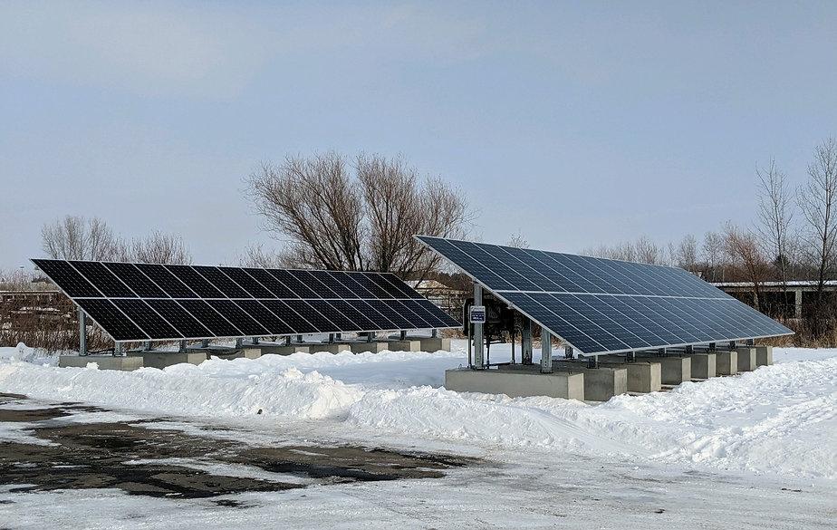 Ballasted Ground Mount Community Solar Veterans TCC Little Falls MN Solar