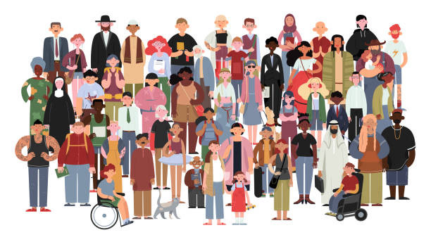 A cartoon of people of different genders, races, abilities