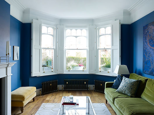 Beautiful blue sitting room