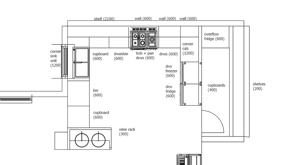 Space planning drawing