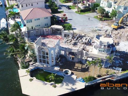 Time Lapse Of Boca Raton Mansion Knock Down