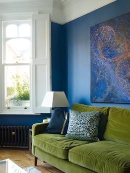 Lovely velvet sofa