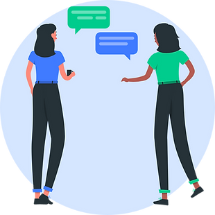 illustration-of-two-women-talking-with-speach-bubbles-above-their-head